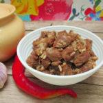 рецепт куриных сердечек в горшочках