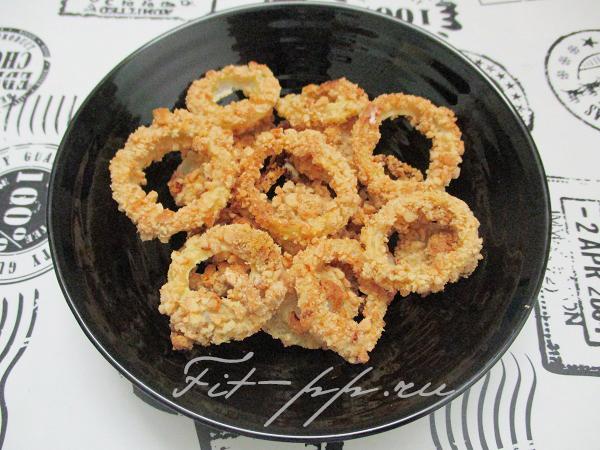 диетические луковые колечки в духовке