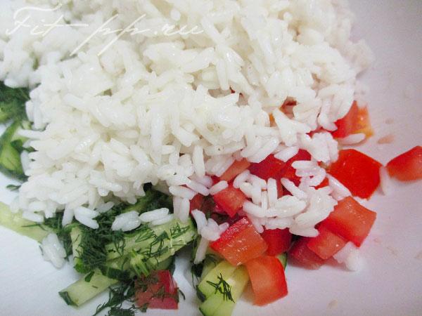 рис для салата с красной рыбой