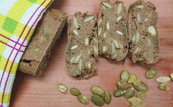 рецепт хлеба с тыквенными семечками