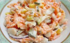 салат из фасоли с кукурузой рецепт с пошаговыми фото