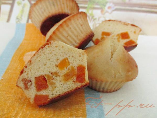 рецепт с фото диетических кексов с курагой