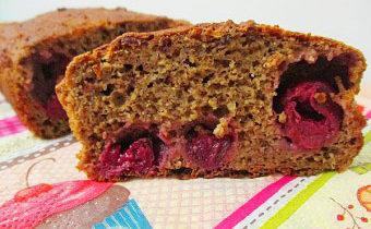 рецепт овсяного кекса с вишней с пошаговыми фото