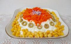 рецепт салата с отварной морковью и картофелем