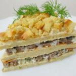 закусочный торт рецепт с пошаговыми фото