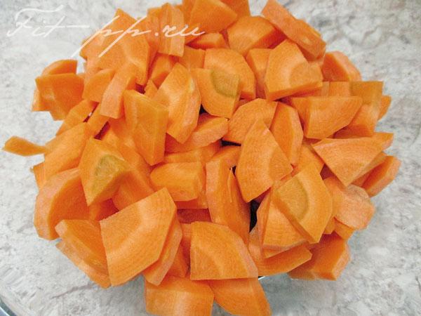 морковь для курицы с фасолью в духовке
