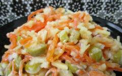салат с оливками и морковью