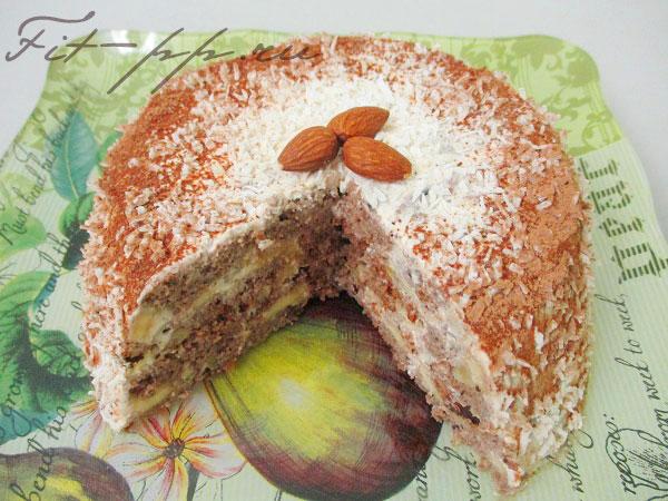 Торт без сахара в разрезе