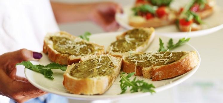 ПП бутерброд с овощным паштетом