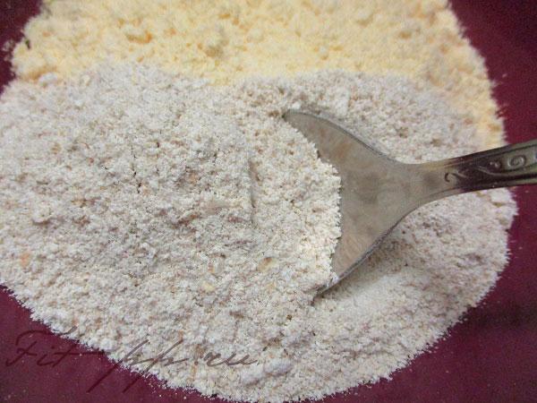 кукурузная мука и овсяная для лепешек