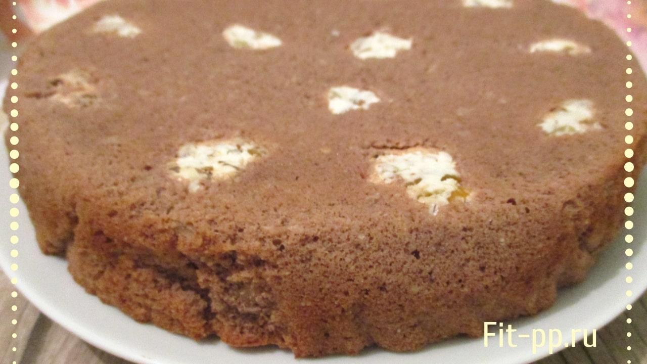тесто для шоколадного пирога с творожными шариками