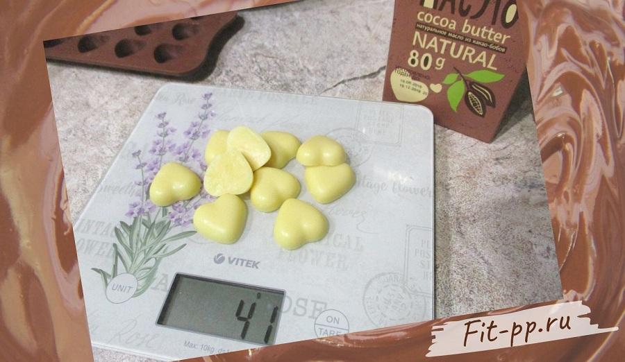 конфеты из какао масла