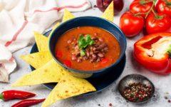 томатный суп с фасолью. рецепт