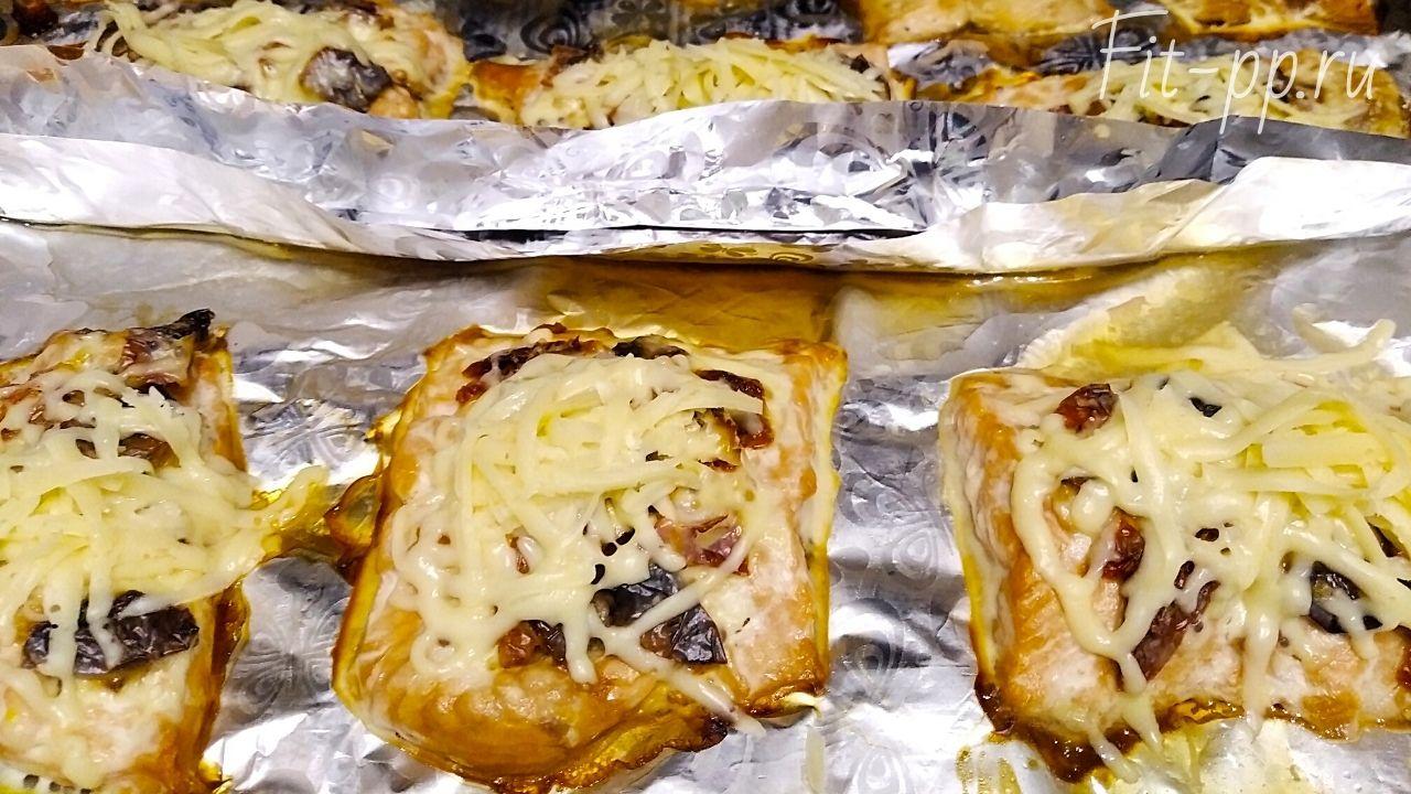 Филе горбуши с сыром
